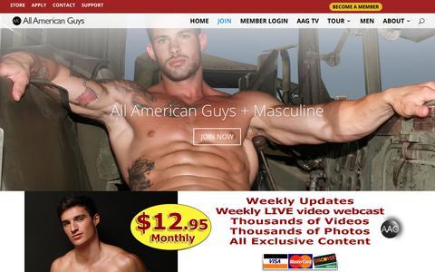 Screenshot of Signup Page allamericanguys.com - JOIN ALL AMERICAN GUYS - All American Guys - captured Nov. 20, 2017