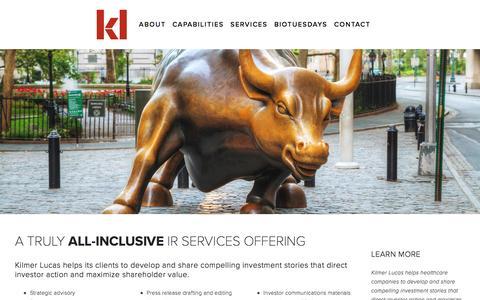 Screenshot of Services Page kilmerlucas.com - SERVICES — Kilmer Lucas - captured Nov. 27, 2016