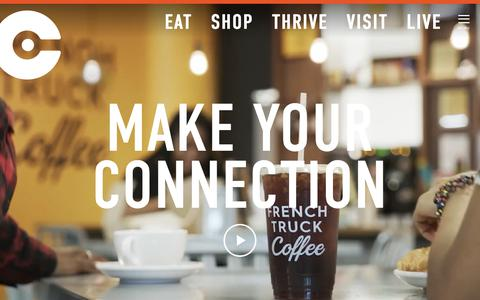 Screenshot of Home Page crosstownconcourse.com - Crosstown Concourse - captured Oct. 25, 2018