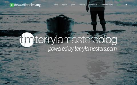 Screenshot of Blog forwardleader.org - terrylamasters - Forward Leader - captured Jan. 8, 2016
