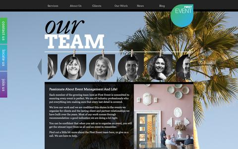 Screenshot of Team Page firstevent.co.uk - Our Team | First Event - captured Sept. 30, 2014
