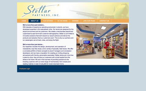 Screenshot of About Page stellarairportstores.com - About Us - Overview - captured Oct. 7, 2014