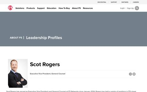 Screenshot of Team Page f5.com - Scot Rogers - captured March 8, 2018
