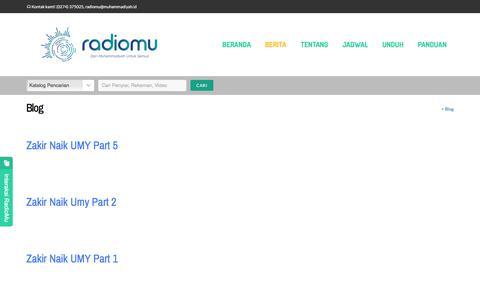 Screenshot of Blog radiomu.web.id - Berita - RadioMu - captured March 14, 2018