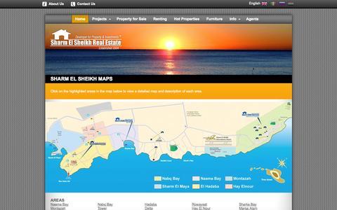 Screenshot of Maps & Directions Page sharmelsheikhrealestate.com - Maps of Sharm El Sheikh - captured Sept. 23, 2014
