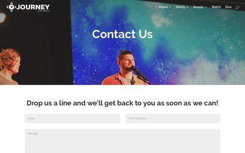 Screenshot of Contact Page journeycalloway.com - Contact Us | Journey Church - captured Oct. 22, 2017