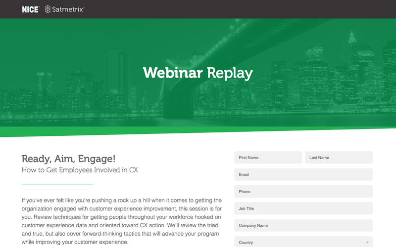Satmetrix Webinar Registration: Employee Engagement