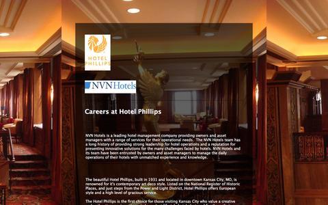 Screenshot of Jobs Page jotform.com - Careers at Hotel Phillips - captured Dec. 5, 2015