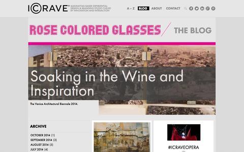 Screenshot of Blog icrave.com - Interior Design & Space Design Blog | ICRAVE - captured Oct. 4, 2014