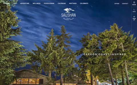 Screenshot of Home Page salishan.com - The New Salishan | Oregon Coast Luxury Hotels | Salishan Resort - captured Nov. 12, 2018