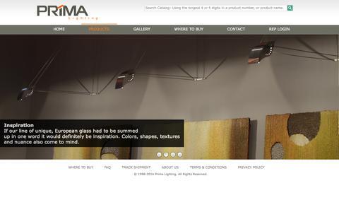Screenshot of FAQ Page primalighting.com - PrimaLighting.com - captured Oct. 3, 2014