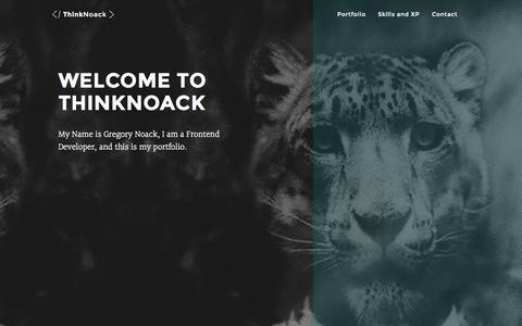 Screenshot of Home Page thinknoack.com - Online Portfolio of Gregory Noack - captured June 16, 2015