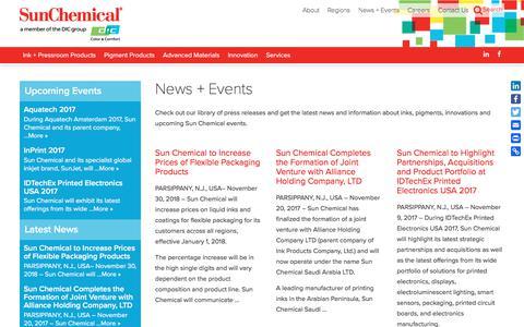 News + Events | Sun Chemical