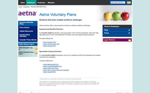 Aetna voluntary plans cover a range of additional benefits