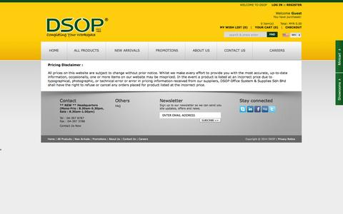 Screenshot of Privacy Page dsop.com.my - DSOP - Completing Your Workspace - captured Oct. 30, 2014