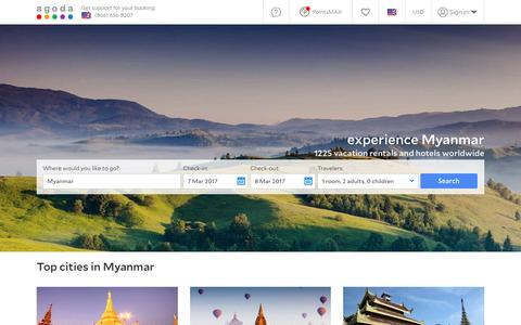 Myanmar Hotels - Online hotel reservations for Hotels in Myanmar