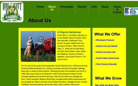 Screenshot of About Page scottszellwoodsweetcorn.com - About Us - captured Nov. 2, 2014