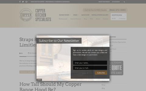 Screenshot of Blog copperhoods.com - Copper Kitchen Hoods, Custom Copper Range Hoods Kitchen, Copper Hoods - captured Nov. 12, 2016