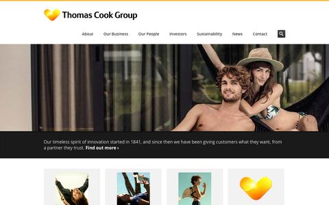 Thomas Cook Group - Welcome to Thomas Cook Group plc