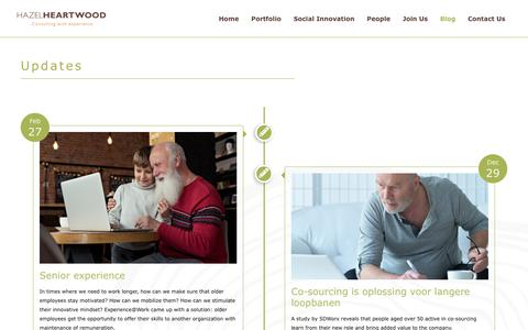 Screenshot of Blog hazelheartwood.com - HazelHeartwood: Consultancy in business transformations | HazelHeartwood is a consultancy company of 70+ experienced and creative people which supports organizations with transformations. We carefully combine the experience of senior executives with  - captured Nov. 10, 2018