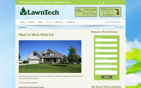 Screenshot of Jobs Page golawntech.com - Careers - Go LawnTech - captured Oct. 2, 2014