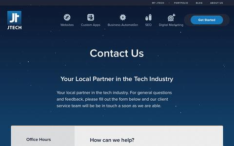 Screenshot of Contact Page jtech.digital - Bozeman MT Web  Development | Montana SEO | Contact JTech - captured Sept. 15, 2019