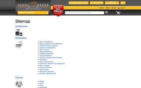 Screenshot of Site Map Page shortorder.com - Sitemap| Short Order - captured Sept. 23, 2014