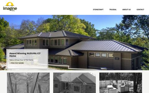 Screenshot of Home Page uimagineit.com - Imagine INC – Building you the strongest home - captured Feb. 10, 2016