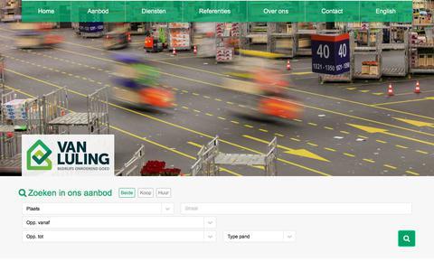 Screenshot of Home Page vanlulingbog.nl - Bedrijfsmakelaar en taxateur - Van Luling BOG - captured Sept. 21, 2018
