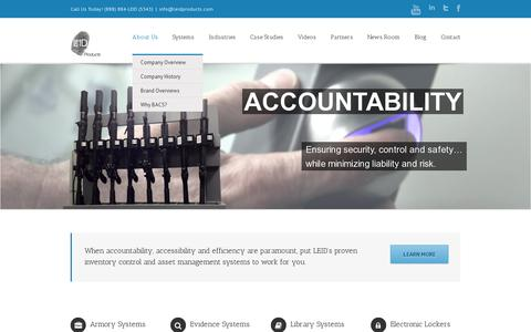 Screenshot of Home Page leidproducts.com - Biometric Asset Protection and Control | LEID Products - captured July 11, 2014