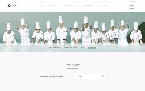 Screenshot of Jobs Page lefayresorts.com - Lefay Resorts - Career opportunities. - captured July 18, 2018