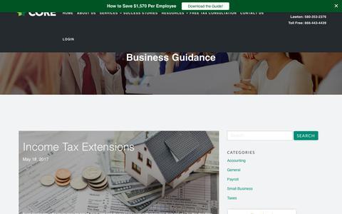 Screenshot of Blog coregroupus.com - Blogs   Oklahoma City Tax Services   Tulsa Payroll Services - captured Aug. 26, 2017
