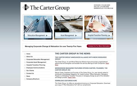 Screenshot of Press Page thecartergroupinc.com - News and Information about The Carter Group, Inc - The Carter Group, Inc. - captured Sept. 30, 2014