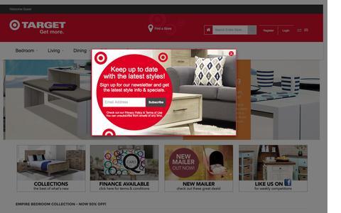 Screenshot of Home Page targetfurniture.co.nz - Target Furniture NZ - captured Dec. 12, 2016