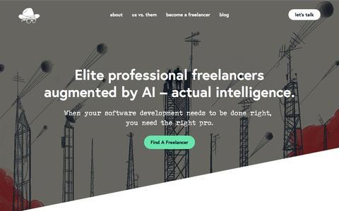 Screenshot of Home Page gun.io - Gun.io - Hire Elite Freelance Technical Talent - captured May 18, 2018