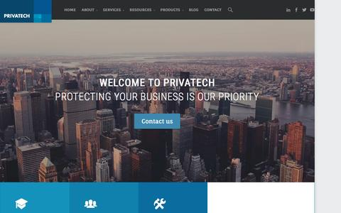 Screenshot of Home Page privatech.ca - HOME - Privatech Consulting - captured Sept. 18, 2015