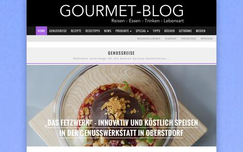 Screenshot of Home Page gourmet-blog.de - Gourmet-Blog.de - captured Jan. 16, 2016