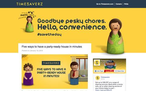 Screenshot of Blog timesaverz.com - Timesaverz Blog - #savetheday - captured Jan. 21, 2016