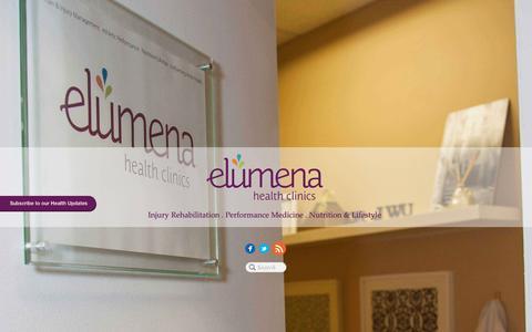 Screenshot of Home Page elumenahealthclinics.com - Elumena Health Clinics - captured Dec. 9, 2015