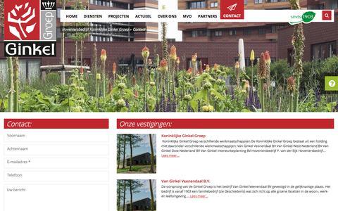 Screenshot of Contact Page ginkelgroep.nl - Contact - Hoveniersbedrijf Koninklijke Ginkel Groep - captured Oct. 17, 2017