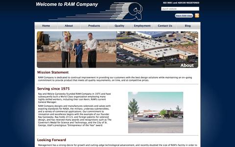 Screenshot of About Page ramcompany.com - About | Ram Company - captured Oct. 27, 2014