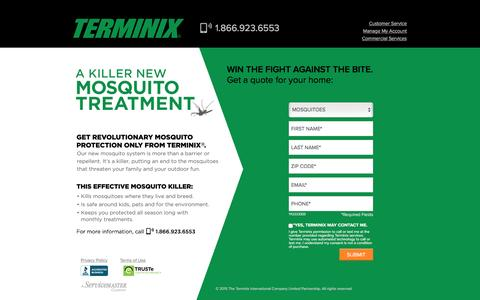Screenshot of Landing Page terminix.com - Terminix | Pest Control - captured June 17, 2016