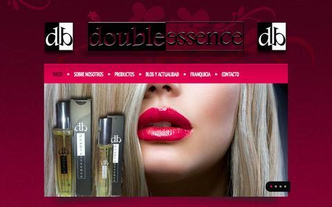 Screenshot of Home Page doubleessence.es - Bienvenido a Double Essence | Double Essence - captured Sept. 30, 2014