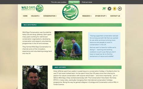 Screenshot of Team Page wilddaysconservation.org - Wild Days People | Wild Days Conservation - captured Sept. 30, 2014