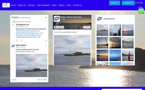 Screenshot of Press Page saltiremarine.co.uk - Social Feeds – Saltire Marine Services - captured Oct. 2, 2018