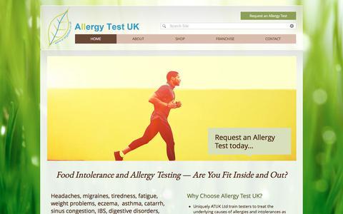 Screenshot of Home Page allergytest.co.uk - allergies | intolerance | supplements | national | Allergy Test UK - captured Oct. 8, 2017