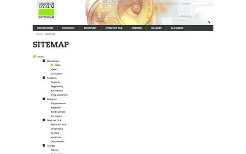 Screenshot of Site Map Page glr.nl - Sitemap - Grafisch Lyceum Rotterdam - captured Sept. 22, 2014