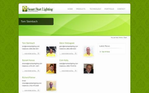 Screenshot of Team Page smartstartlighting.com - Team - Smart Start Lighting - captured Oct. 26, 2014