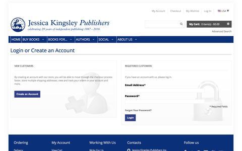 Screenshot of Login Page jkp.com - Customer Login - captured Jan. 20, 2016