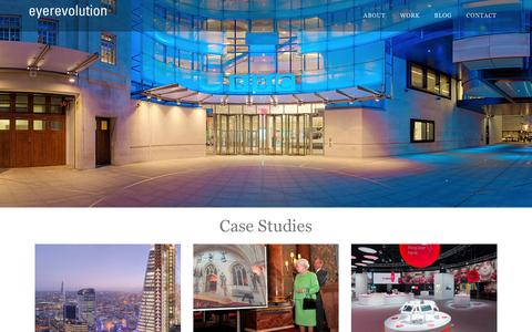 Screenshot of Case Studies Page eyerevolution.co.uk - Eye Revolution - Virtual Tour Company - Case Studies - captured Dec. 13, 2015